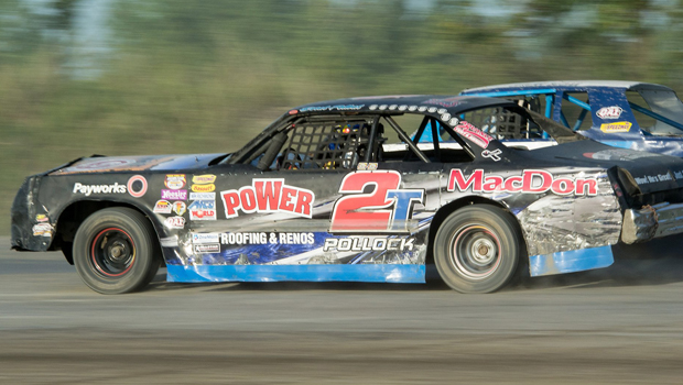 Derek Pollock - Pure Stock feature winner (photos by Val Catellier)