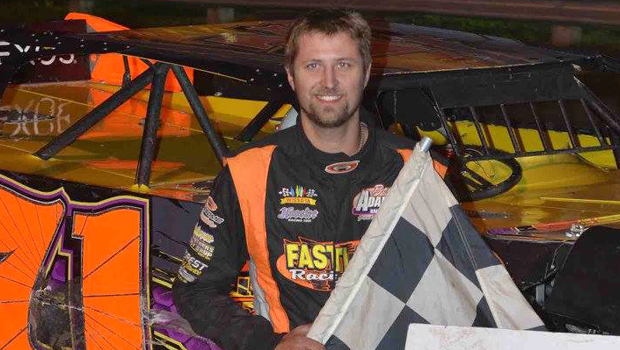 Dustin Strand - NLRA Late Model Can-Am Challenge feature winner (Photos by Kaz Grafix)