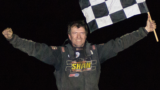 Greenbush Race Park WISSOTA Modified feature winner Rick Delaine (photo courtesy of Heather Morey)
