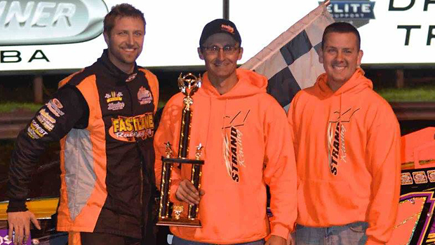Dustin Strand - WISSOTA Late Model feature winner (Photos by Kaz Grafix)