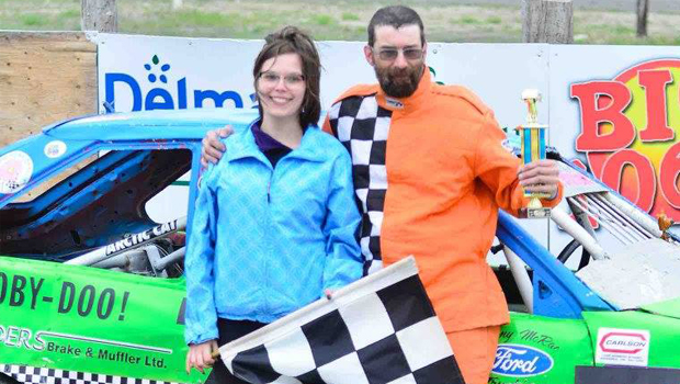 Dean Miljure - 4 Cylinder Stock feature winner - photos by Kaz Grafix