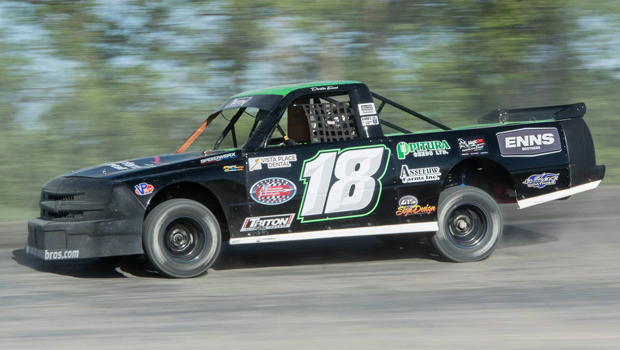 Dustin Enns - Northern Super Truck feature winner - photo by Val Catellier