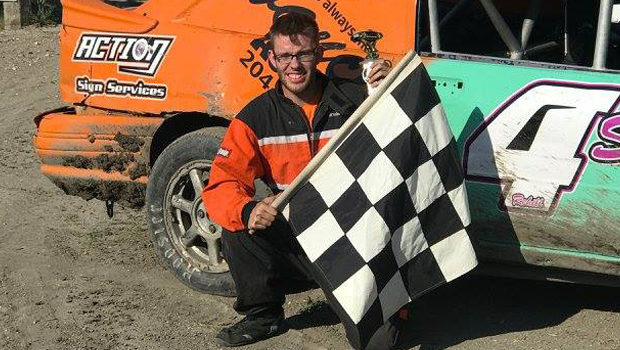 Shane Rehill - 4 Cylinder Stock feature winner (photo by Kaz Grafix)