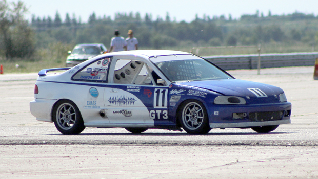 Damon Hill - Touring series race 3 winner - 1993 Honda Civic