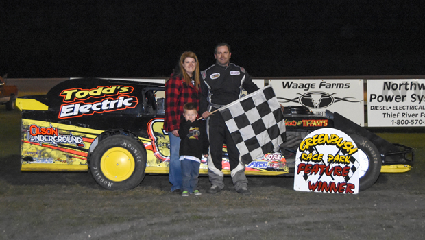 Jordan Duray - WISSOTA Modified feature winner (photo courtesy of Heather Morey)